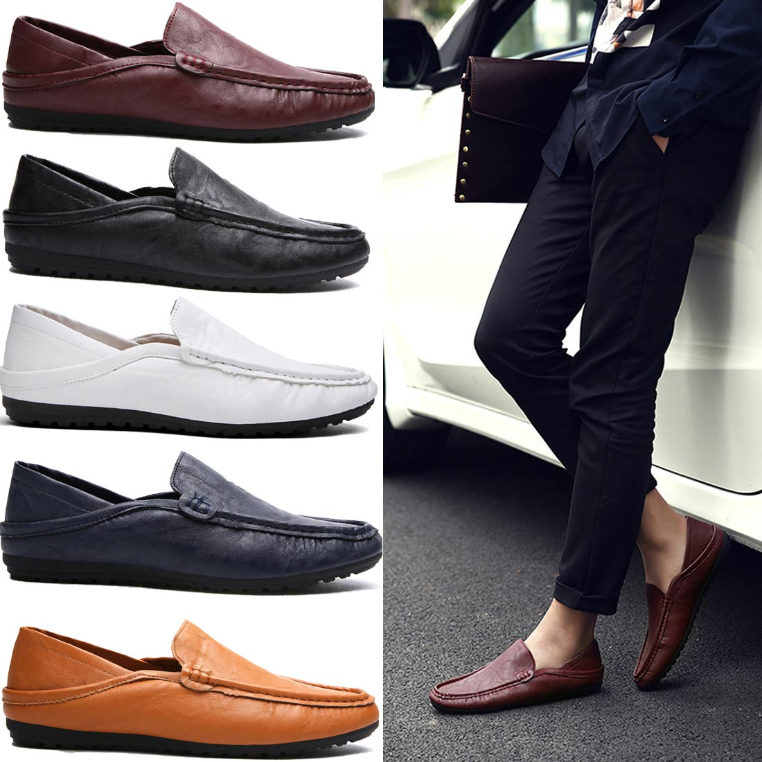 Men's Loafers - Height Increase Loafers Shoes