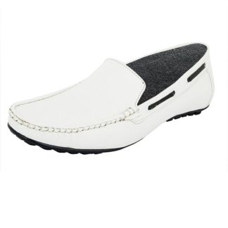 White Elevator Loafer Shoes