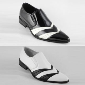Black & White Elevator Shoes