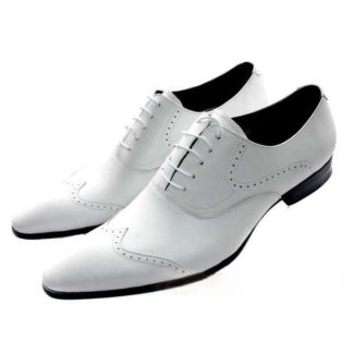 White Color Elevator Shoes