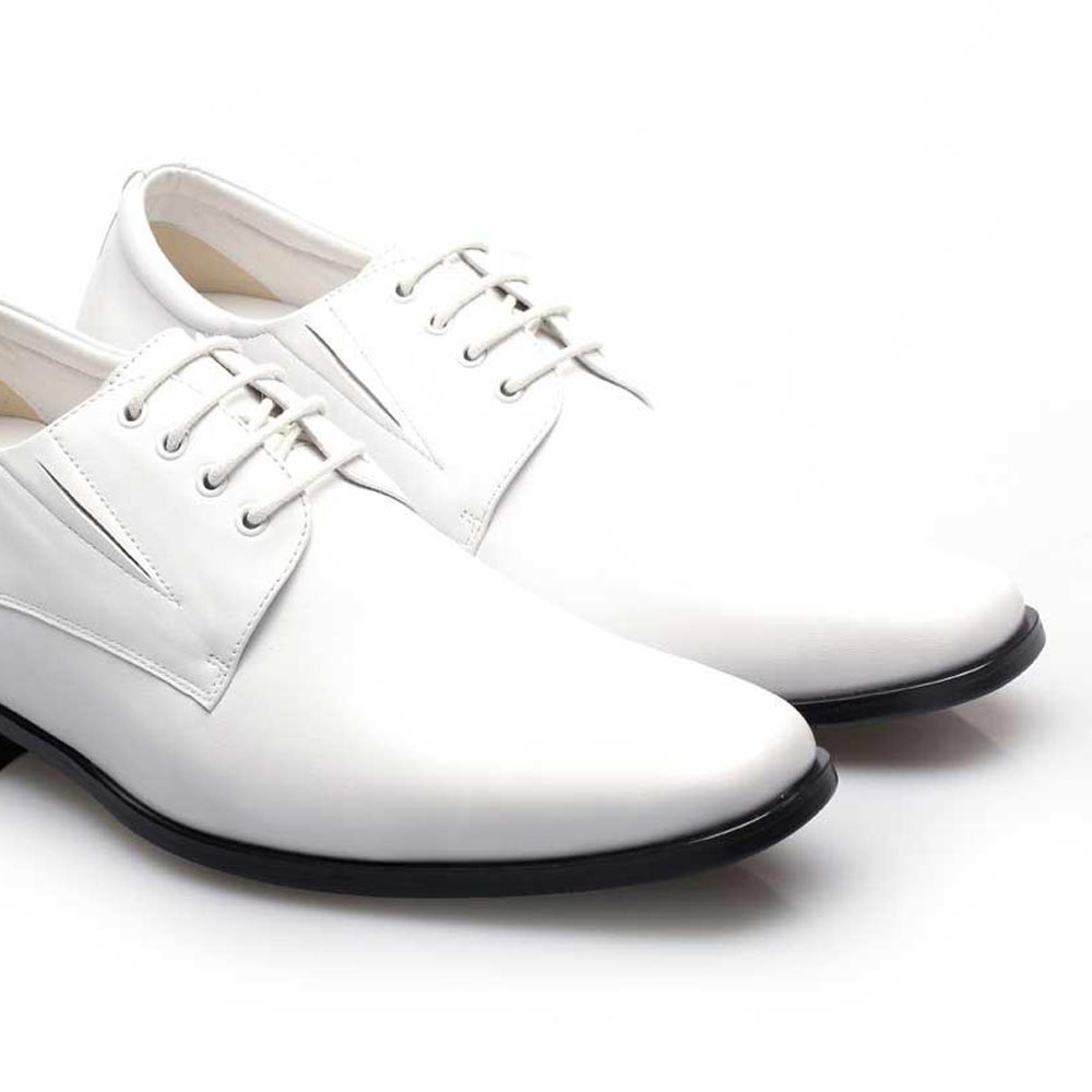 White Color Elevator Shoes - White